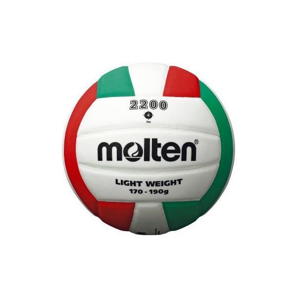 molten モルテン バレーボール2200 軽量4号 V4C2200-L バレーボール 4号軽量 ジュニア ホワイト 4号球