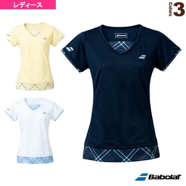バボラ テニス・バドミントンウェア(レディース)  PURE SHORT SLEEVE SHIRT/半袖ゲームシャツ/レディース(BWG1328)