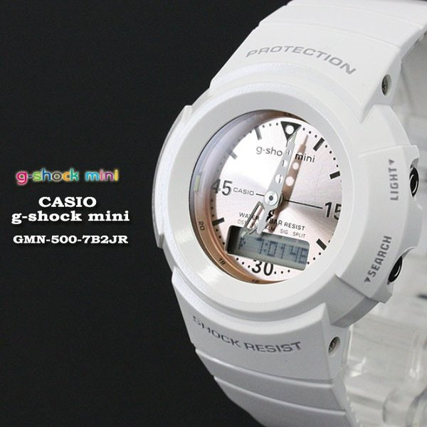 g-shock mini ジーショックミニ Gショック GMN-500-7B2JR White|spray