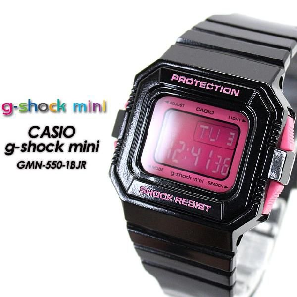 Gショック G-SHOCK GMN-550-1BJR mini G-ショック ミニ black pink 腕時計|spray|02