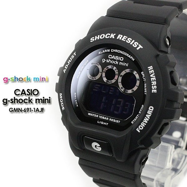 g-shock mini Gショック GMN-691-1AJF matte black|spray