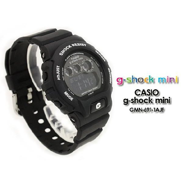g-shock mini Gショック GMN-691-1AJF matte black|spray|02