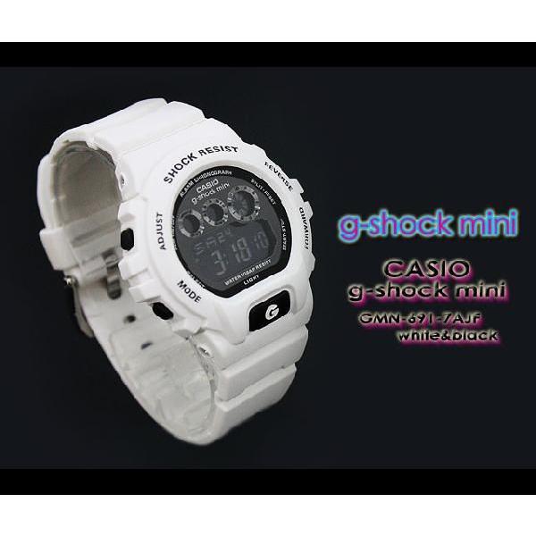 g-shock mini Gショック ミニ GMN-691-7AJF white black|spray|03