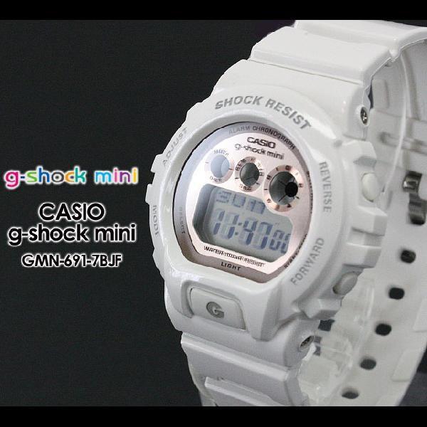 g-shock mini ミニ GMN-691-7BJF white pink|spray
