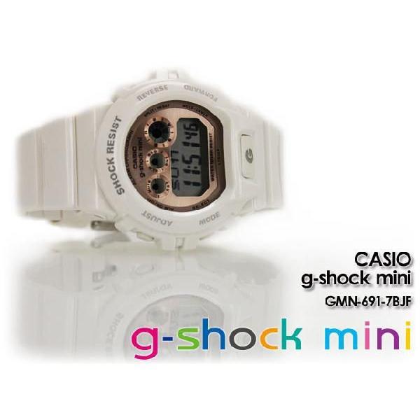 g-shock mini ミニ GMN-691-7BJF white pink|spray|03