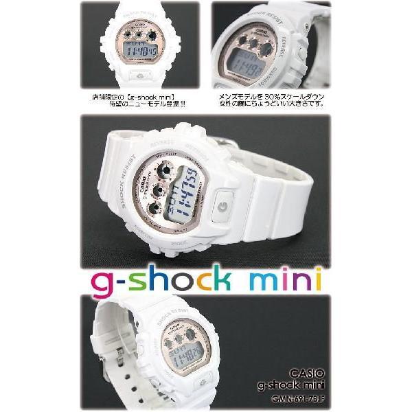 g-shock mini ミニ GMN-691-7BJF white pink|spray|04
