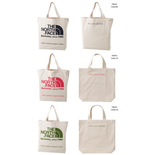 THE NORTH FACE ノースフェイス  TNF ORGANIC COTTON TOTE TNFオーガニックコットントート NM81616|spray|02