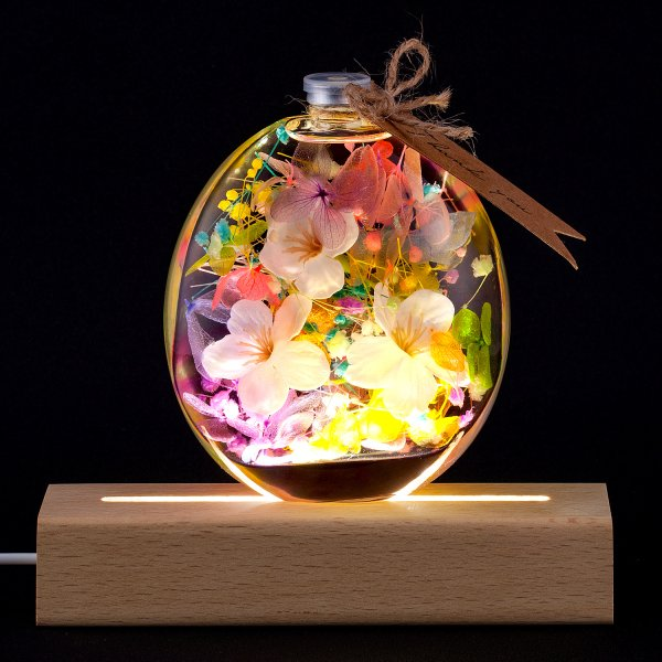 ハーバリウム 丸瓶 母の日 プレゼント / プリザーブドフラワー ドライフラワー 誕生日 ギフト 結婚祝い 開業祝い 送料無料 植物標本|springch|07
