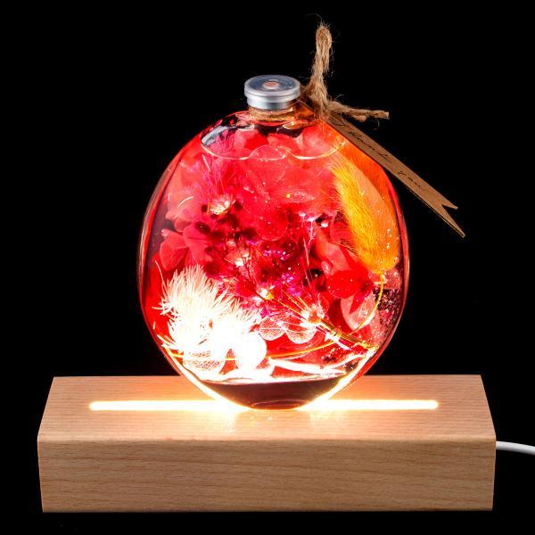 ハーバリウム 丸瓶 母の日 プレゼント / プリザーブドフラワー ドライフラワー 誕生日 ギフト 結婚祝い 開業祝い 送料無料 植物標本|springch|08