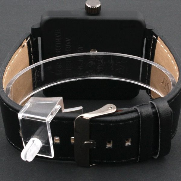 2674870ea2 ... 腕時計 メンズ腕時計 ビッグサイズ 角型コーティングケース 航空計器デザイン PUレザーベルト クォーツ