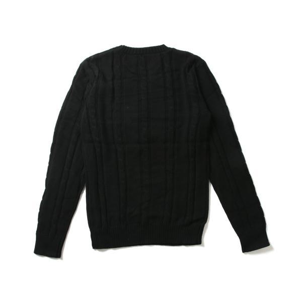 ケーブルニット メンズ ニット セーター 2018 AW 新作 リニューアル ケーブル編み Vネック / クルーネック 綿ニット メンズファッション|spu|14