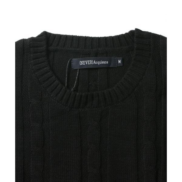 ケーブルニット メンズ ニット セーター 2018 AW 新作 リニューアル ケーブル編み Vネック / クルーネック 綿ニット メンズファッション|spu|16