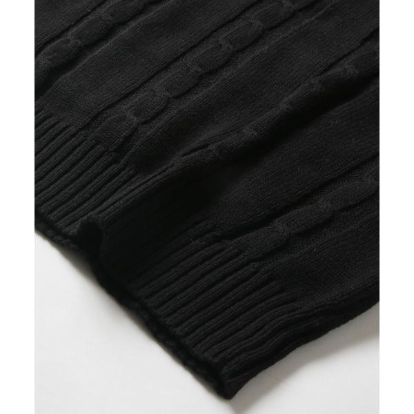 ケーブルニット メンズ ニット セーター 2018 AW 新作 リニューアル ケーブル編み Vネック / クルーネック 綿ニット メンズファッション|spu|18