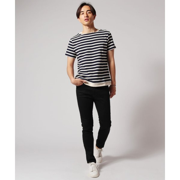 バスクシャツ ボーダー カットソー メンズ 日本製 BSQ度詰 天竺 レイヤード ボートネック|spu|05