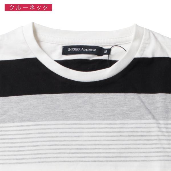 tシャツ メンズ ボーダーカットソー 夏 2018新作 お洒落 ボーダー クルー / Vネック 半袖 カットソー|spu|15