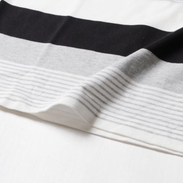 tシャツ メンズ ボーダーカットソー 夏 2018新作 お洒落 ボーダー クルー / Vネック 半袖 カットソー|spu|18