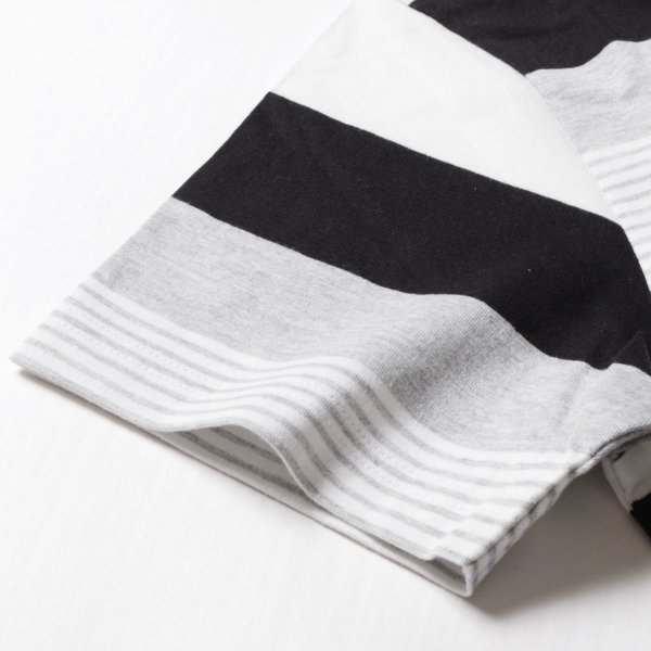 tシャツ メンズ ボーダーカットソー 夏 2018新作 お洒落 ボーダー クルー / Vネック 半袖 カットソー|spu|19