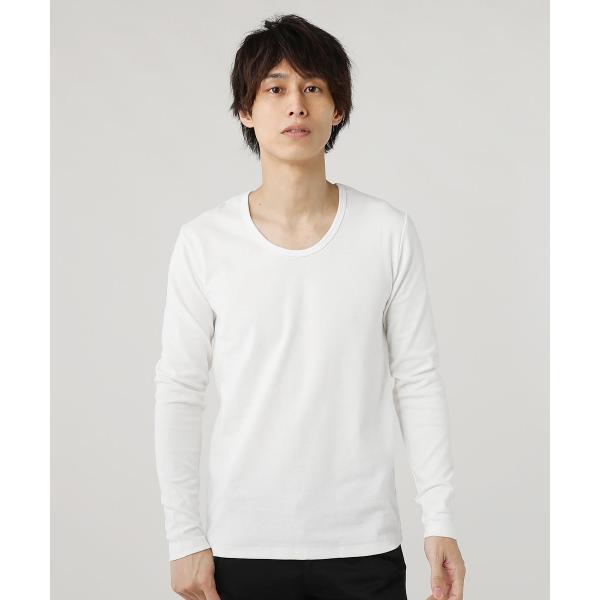 tシャツ メンズ カットソー メンズ 長袖 Uネック Vネック スパンフライス|spu|15