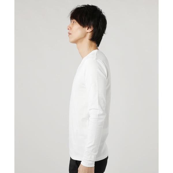 tシャツ メンズ カットソー メンズ 長袖 Uネック Vネック スパンフライス|spu|16