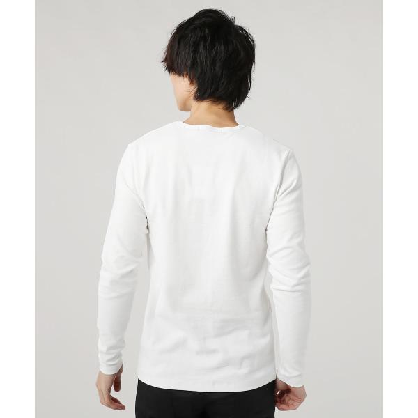 tシャツ メンズ カットソー メンズ 長袖 Uネック Vネック スパンフライス|spu|17