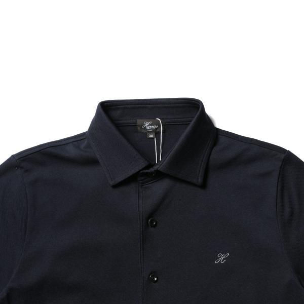 メンズ ポロシャツ メンズファッション TC シルケット 鹿の子 ワイドスプレッドカラー 半袖 ポロシャツ Harriss ハリス|spu|12