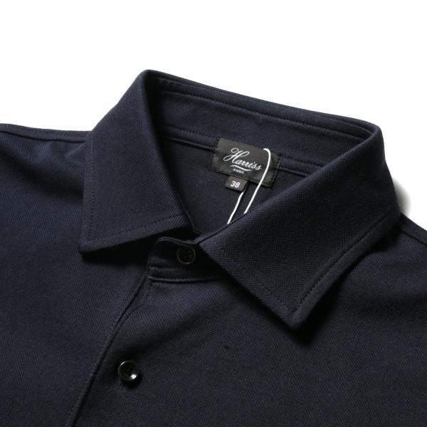 メンズ ポロシャツ メンズファッション TC シルケット 鹿の子 ワイドスプレッドカラー 半袖 ポロシャツ Harriss ハリス|spu|13