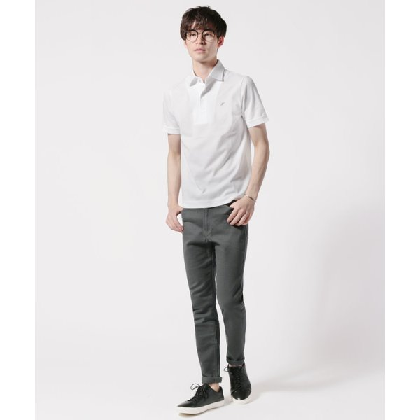 メンズ ポロシャツ メンズファッション TC シルケット 鹿の子 ワイドスプレッドカラー 半袖 ポロシャツ Harriss ハリス|spu|06