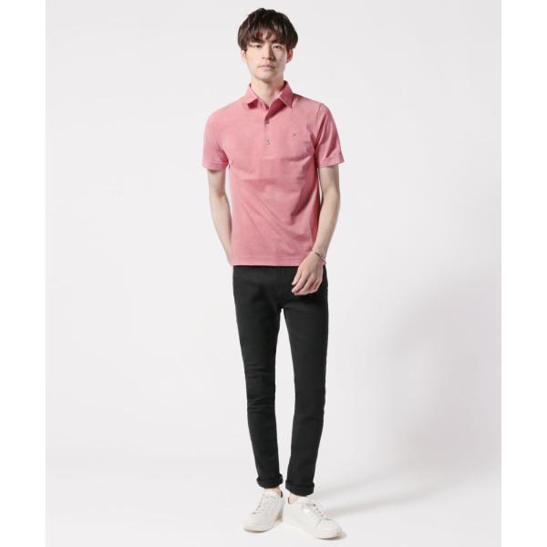メンズ ポロシャツ メンズファッション TC シルケット 鹿の子 ワイドスプレッドカラー 半袖 ポロシャツ Harriss ハリス|spu|07