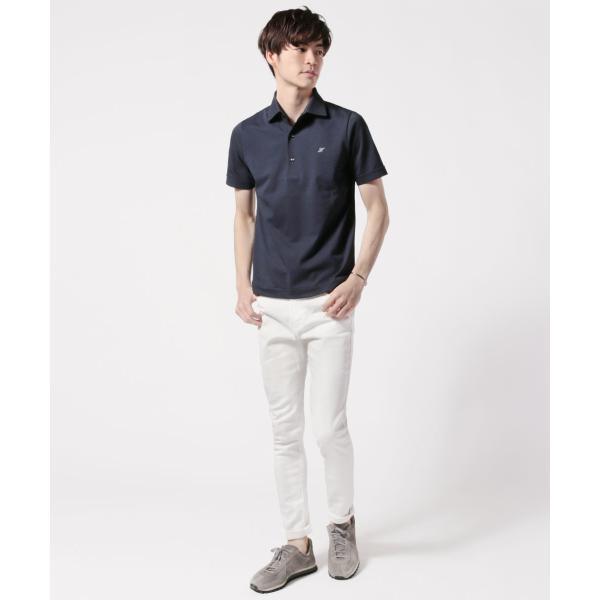 メンズ ポロシャツ メンズファッション TC シルケット 鹿の子 ワイドスプレッドカラー 半袖 ポロシャツ Harriss ハリス|spu|08