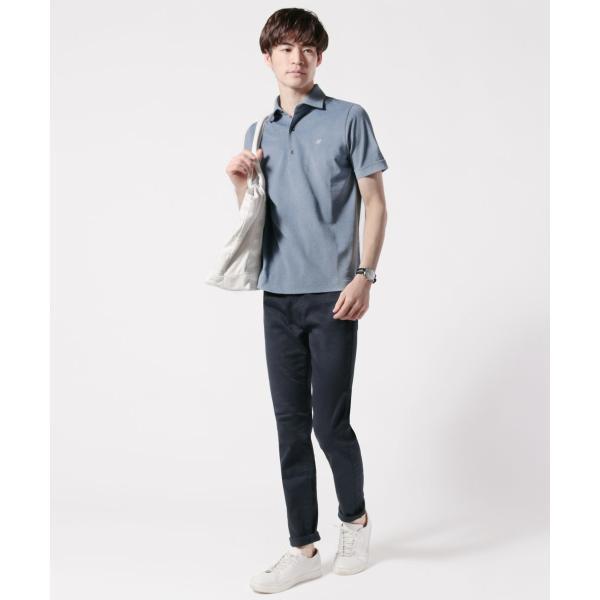 メンズ ポロシャツ メンズファッション TC シルケット 鹿の子 ワイドスプレッドカラー 半袖 ポロシャツ Harriss ハリス|spu|09