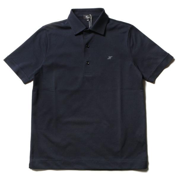 メンズ ポロシャツ メンズファッション TC シルケット 鹿の子 ワイドスプレッドカラー 半袖 ポロシャツ Harriss ハリス|spu|10