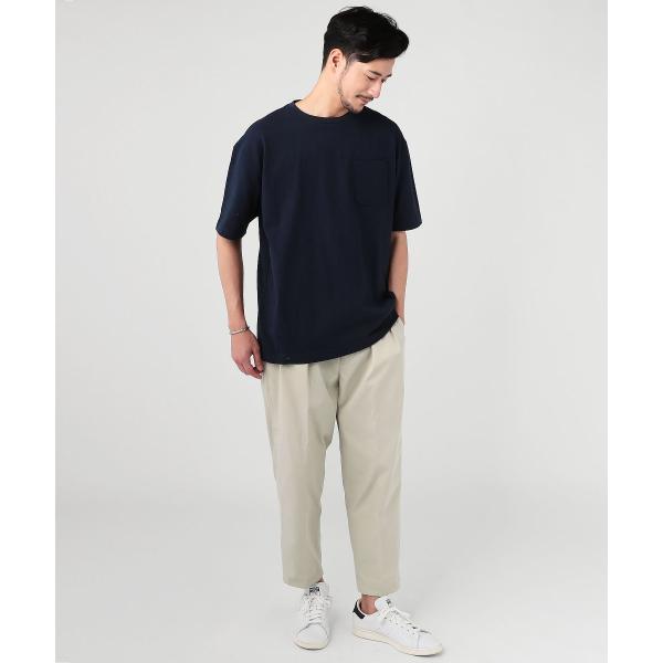 ビッグtシャツ メンズ tシャツ USAコットン ポケT ポケット へビーウエイトドロップショルダー ワイド 半袖 カットソー|spu|02