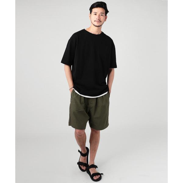 ビッグtシャツ メンズ tシャツ USAコットン ポケT ポケット へビーウエイトドロップショルダー ワイド 半袖 カットソー|spu|03