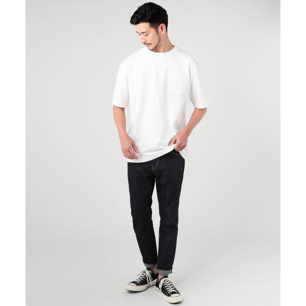 ビッグtシャツ メンズ tシャツ USAコットン ポケT ポケット へビーウエイトドロップショルダー ワイド 半袖 カットソー|spu|04