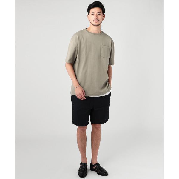 ビッグtシャツ メンズ tシャツ USAコットン ポケT ポケット へビーウエイトドロップショルダー ワイド 半袖 カットソー|spu|05