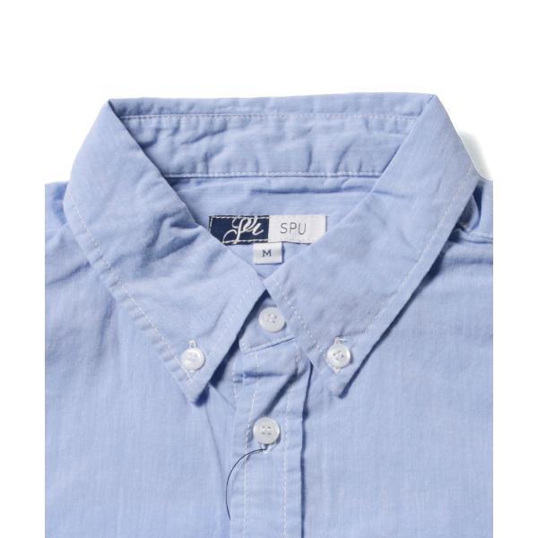 シャツ メンズ ブロードシャツ ボタンダウン バンドカラー 綿 長袖シャツ SPU スプ|spu|12