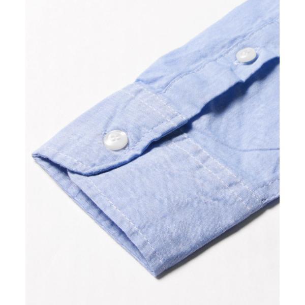 シャツ メンズ ブロードシャツ ボタンダウン バンドカラー 綿 長袖シャツ SPU スプ|spu|13