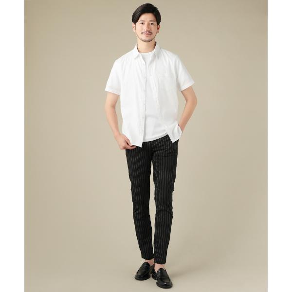 パンツ メンズ スラックス ジョガーパンツ ワイドパンツ TR素材 ストレッチ spu 07