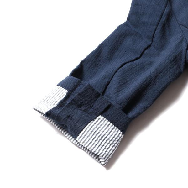 メンズ ジャケット メンズファッション 綿麻 ナチュラル ストレッチ シアサッカー 七分袖 テーラード ジャケット SPU スプ|spu|11