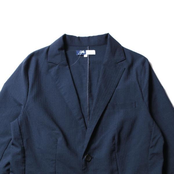 メンズ ジャケット メンズファッション 綿麻 ナチュラル ストレッチ シアサッカー 七分袖 テーラード ジャケット SPU スプ|spu|12