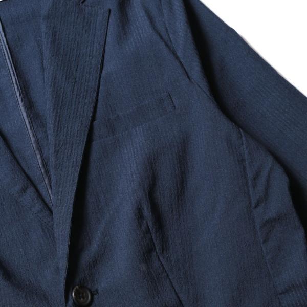 メンズ ジャケット メンズファッション 綿麻 ナチュラル ストレッチ シアサッカー 七分袖 テーラード ジャケット SPU スプ|spu|13