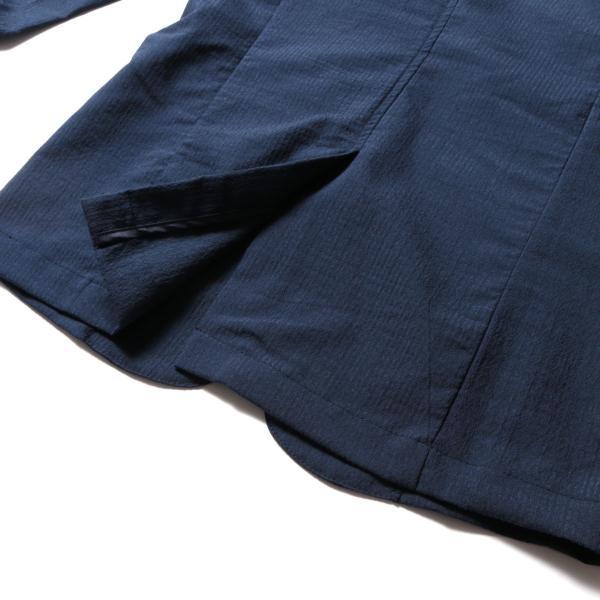 メンズ ジャケット メンズファッション 綿麻 ナチュラル ストレッチ シアサッカー 七分袖 テーラード ジャケット SPU スプ|spu|14