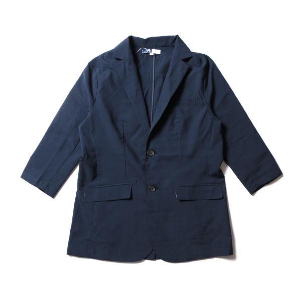 メンズ ジャケット メンズファッション 綿麻 ナチュラル ストレッチ シアサッカー 七分袖 テーラード ジャケット SPU スプ|spu|08