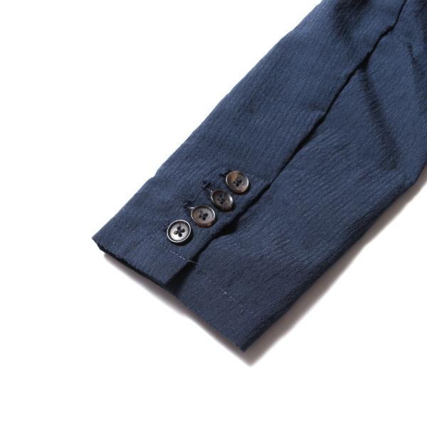 メンズ ジャケット メンズファッション 綿麻 ナチュラル ストレッチ シアサッカー 七分袖 テーラード ジャケット SPU スプ|spu|10