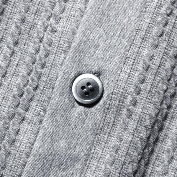 カーディガン メンズ ケーブル 綿 秋 羽織 カーデ 予約販売・10月下旬頃発送予定|spu|14