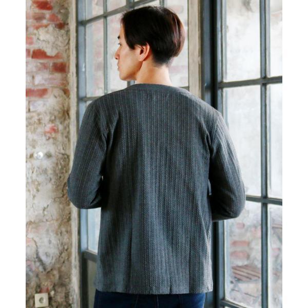 カーディガン メンズ ケーブル 綿 秋 羽織 カーデ 予約販売・10月下旬頃発送予定|spu|20