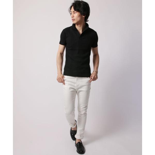 ポロシャツ メンズ ランダムテレコ テレコ スキッパー 半袖 ポロシャツ Buyer's Select バイヤーズセレクト|spu|11