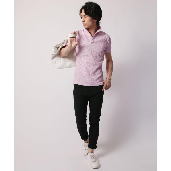 ポロシャツ メンズ ランダムテレコ テレコ スキッパー 半袖 ポロシャツ Buyer's Select バイヤーズセレクト|spu|12