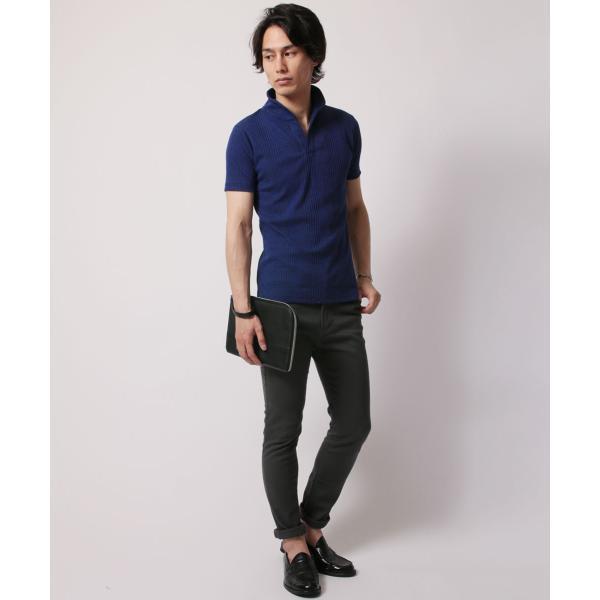 ポロシャツ メンズ ランダムテレコ テレコ スキッパー 半袖 ポロシャツ Buyer's Select バイヤーズセレクト|spu|13