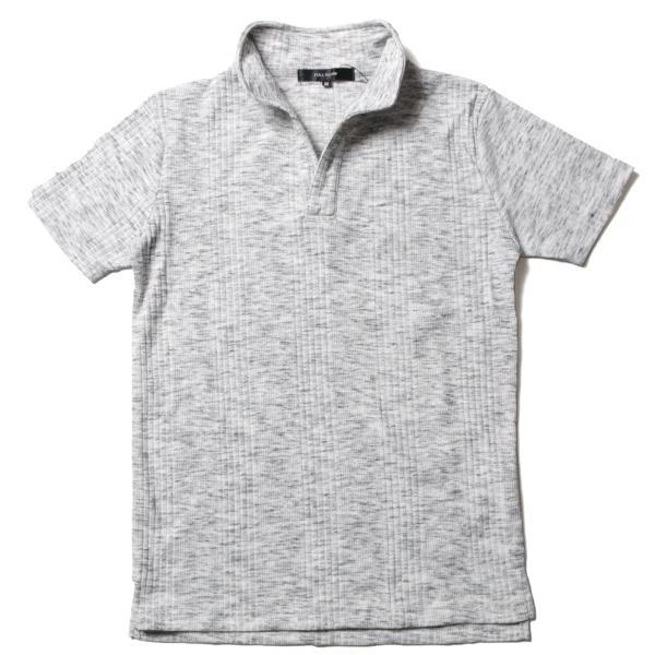 ポロシャツ メンズ ランダムテレコ テレコ スキッパー 半袖 ポロシャツ Buyer's Select バイヤーズセレクト|spu|14